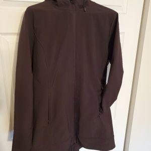 Deep plum coat